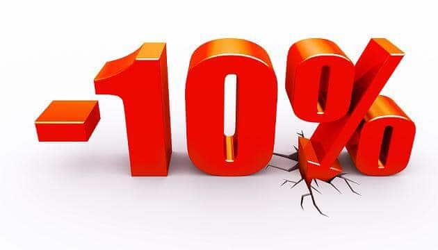 10 % akció